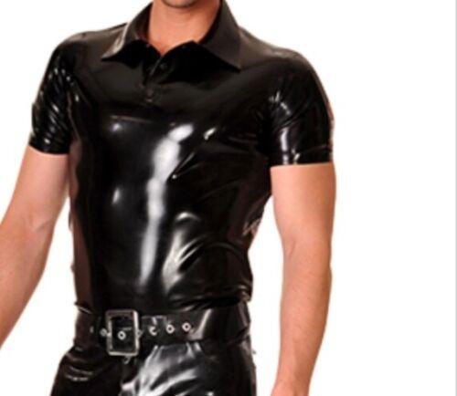 men pre owned latex shirt Libidex Polo size L rare