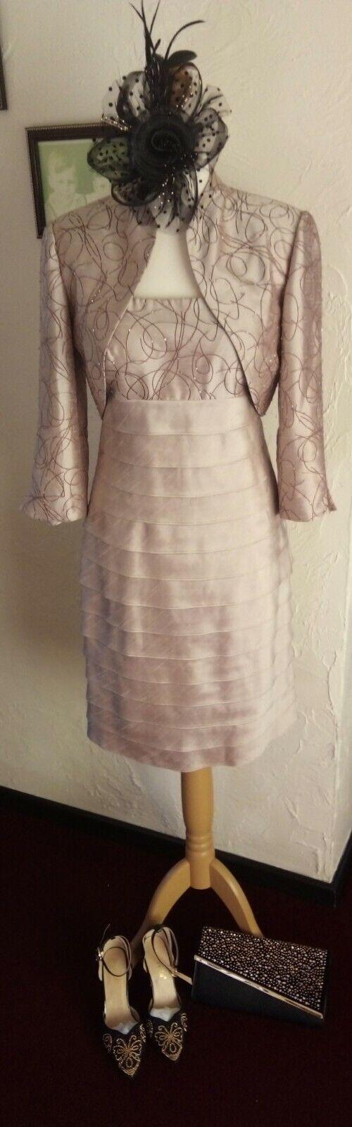 Complete wedding outfit JESSICA HOWARD dress/jacket + shoes/bag/fascinator
