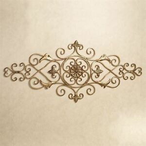 Merano Scrolling Wall Grille Antique Gold