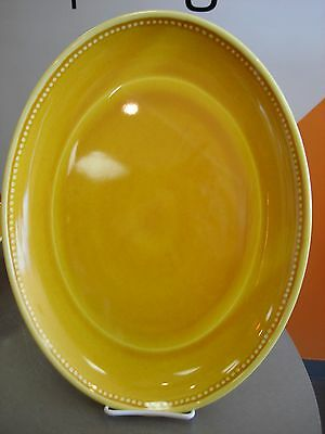 Le Cadeaux Provence Yellow Solid Design 16 inch oval Platter Melamine (New)
