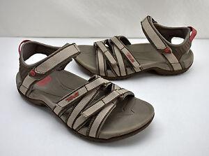 Teva-Tirra-4266-Taupe-Open-Toe-Hook-amp-Loop-Ankle-Strap-Sport-Sandals-Women-039-s-6