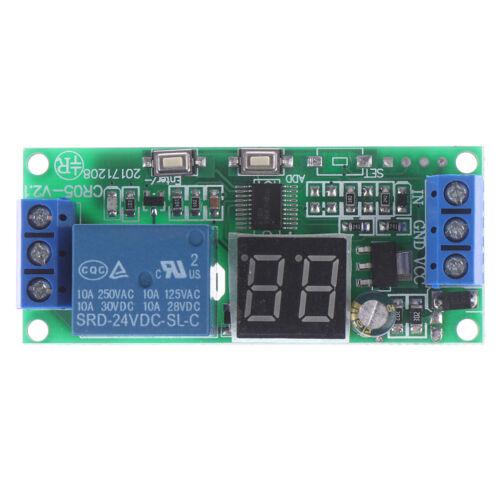 Multifunction Digital Time Infinite Delay Switch Timer Relay Module DC5V 12V  F1
