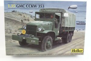 GMC-CCKW-353-WWII-Army-Transport-Kit-OPEN-BOX-Heller-1-35-81121