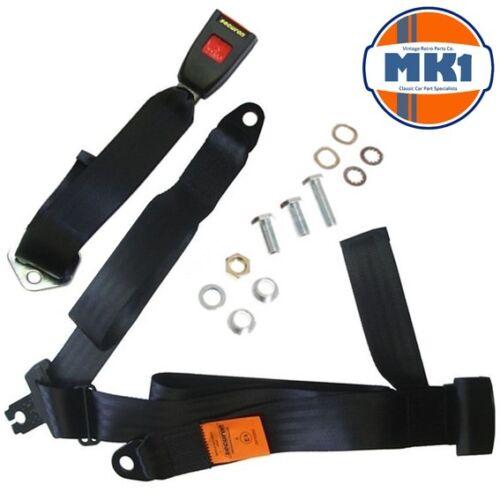 Mk1 Classic Car Parts Trasero 3 Punto Regazo /& Diagonal Kit Del Cinturón De Seguridad Estática