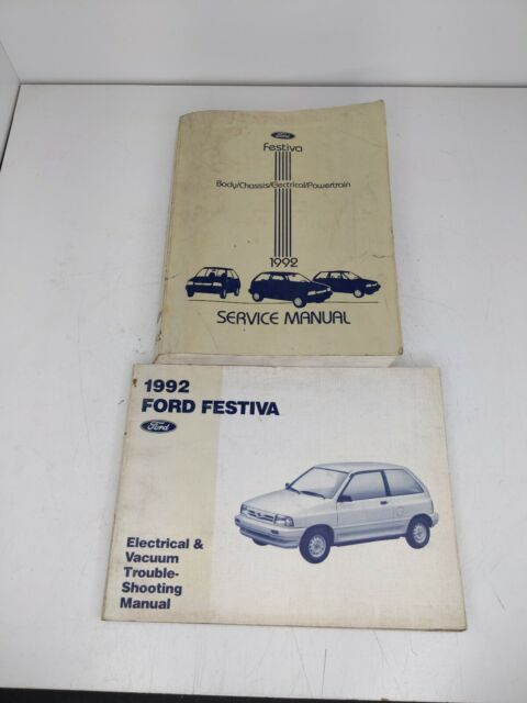 1992 Ford Service Manual  U0026 Wiring Diagram Festiva