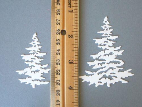 6pc SNOWY PINE TREE /& DEER Die Cuts ~ Scrapbooking /& Card Making ~ Paper Cut Out