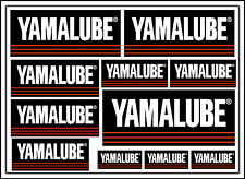 YAMALUBE decal set 11 quality printed and laminated motorcycle stickers
