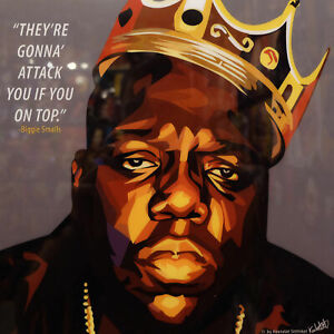 Fabric Poster Notorious B.I.G Biggie Smalls Gangsta Rapper Music 8x12 decor F559