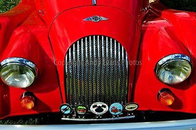 Morgan Classic Sports Motor Car Auto Vehicle Color Photograph Portrait Picture Print