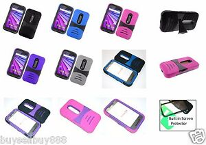 Details about Motorola Moto G 3 3rd Gen 2015 Rugged Phone Case with BUILT  in Screen Protector