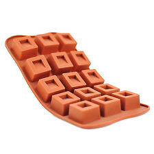 Silicone Chocolate Mould Tray Round Icing Craft Cake Jelly Baking Ice Square