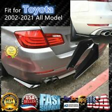 Glossy Black Bumper Fin Canard Splitter Diffuser Valence Spoiler Lip For Toyota Fits More Than One Vehicle
