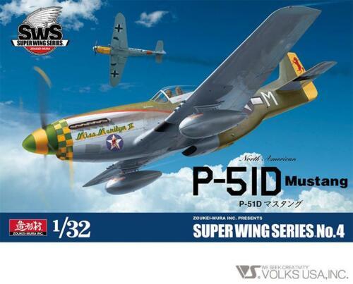 Zoukei-Mura 1//32 US P-51D Mustang Super Wings Series No 4