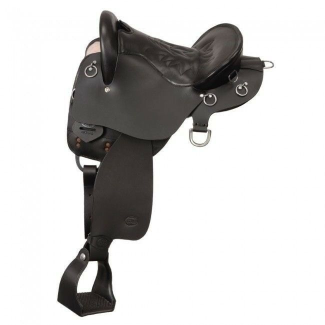 Tough1 King Series Trekker Endurance Saddle without Horn Full Quarter Bars