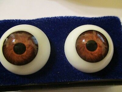 Germany Doll Mannequin 20 mm Vintage Blue Glasaugen Glass Eyes 12 mm Iris W