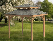 10' x 12' Double Hip Roof Gazebo Building Plans  - Perfect for Hot Tubs
