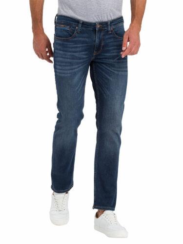 Cross Jeans Herren Jeans Jeanshose Stretchjeans Dylan Regular  Blau  Dark Blue