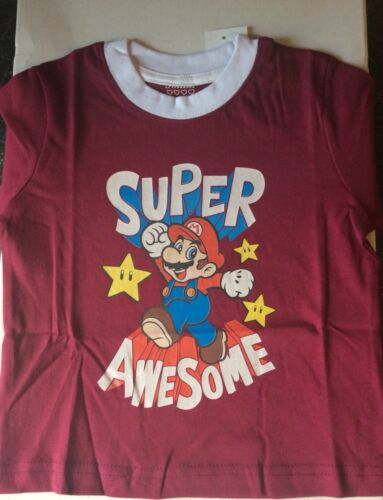 Childs T Shirt Unisex  Age 2-3 Super Mario