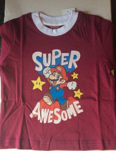Childs T Shirt Unisex  Age 2-3 Super Mario