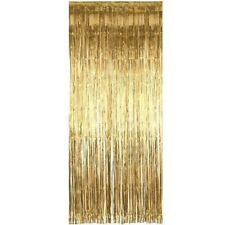 92cm x 2.44m Gold Tinsel Shimmer Foil Door Curtain Party Decoration