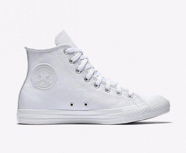 Original Converse Chuck Taylor All Star WEISS Leder Schuhes Mens Damenschuhe 1T406