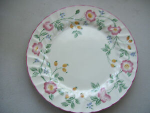 BRIAR-ROSE-by-CHURCHILL-Dinner-10-034-PLATE-Made-In-STAFFORDSHIRE-ENGLAND