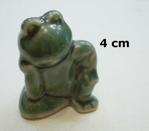 frog 2*T2 rêveur superbe grenouille miniature en porcelaine collection,kikker