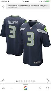 09be5ce60 Image is loading Mens-Seattle-Seahawks-Russell-Wilson-Nike-College-Navy-