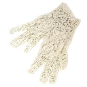 Pair-of-Victorian-Lovely-Lace-White-Gloves-size-Small