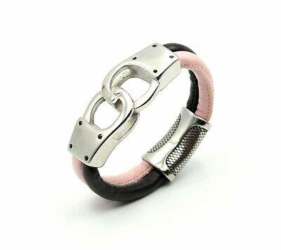 Leather Steel Customisable Bracelet