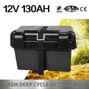 Battery-Box-130AH-AGM-Deep-Cycle-Dual-System-12V-Large-Marine