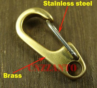 26mm Deep polishing Solid brass Carabiner Spring Snap Hook Clip key chain