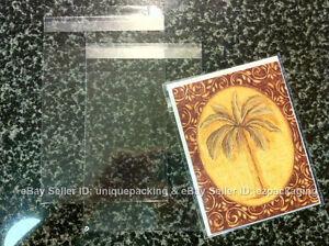 100 3 13/16 x 5 3/16 (A1+) 4Bar Card Resealable Cello Cellophane Poly Bags