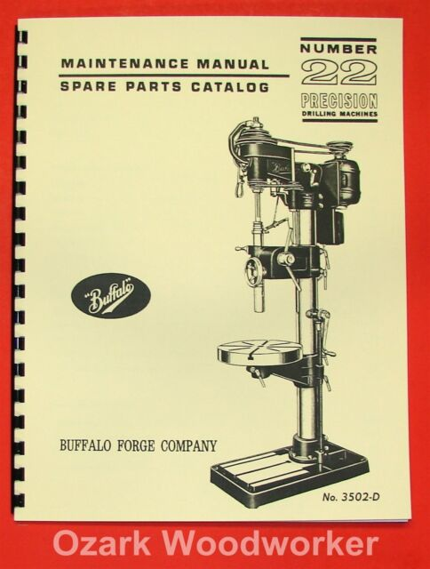 Buffalo No 22 Drill Press Operator Parts Manual 0106 Ebay