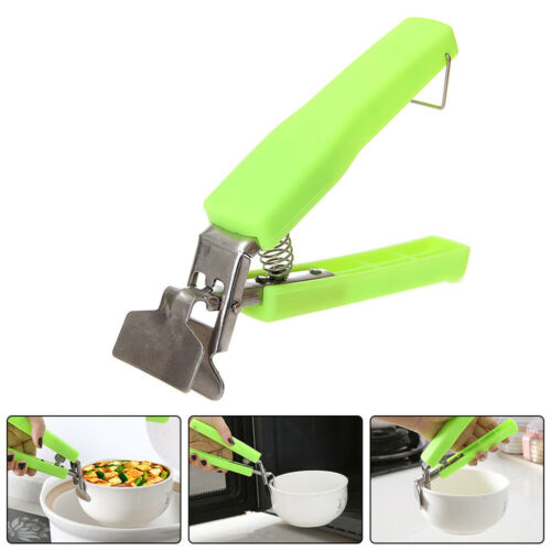 Handle Hot Bowl Holder Dish Pot Clamp Plate Retriever Tongs Pan Gripper Clip