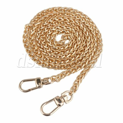 1.2m Light Gold Metal Buckles Handbags Replacement Chains Strap DIY