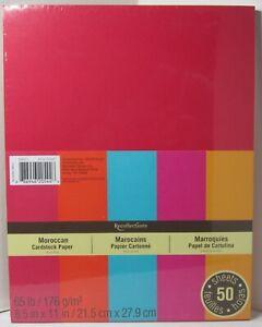 Recollections-Cardstock-Carta-8-1-5-1cm-x-27-9cm-50-Fogli-29-5kg-5-Colori