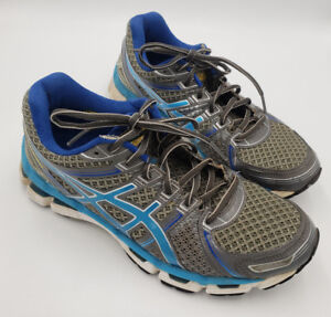 Details about Asics GEL Kayano 19 Grey Blue IGS 350N Running Shoes WOMENS Size 9