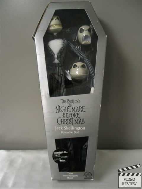 Nightmare Before Christmas Jack Skellington, 3 Cabezas, con distintas poses, aplausos, Sellado