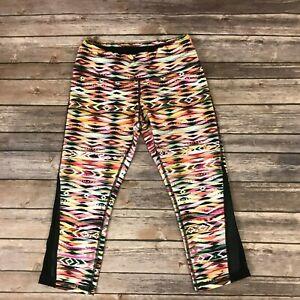 Pink Lotus Yoga Gym Pants Capri Leggings Fitness Aztec Print Sz S Ebay