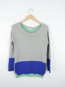 Women-039-s-Olive-amp-Oak-Blue-amp-Gray-Crewneck-Sweater-Size-XS