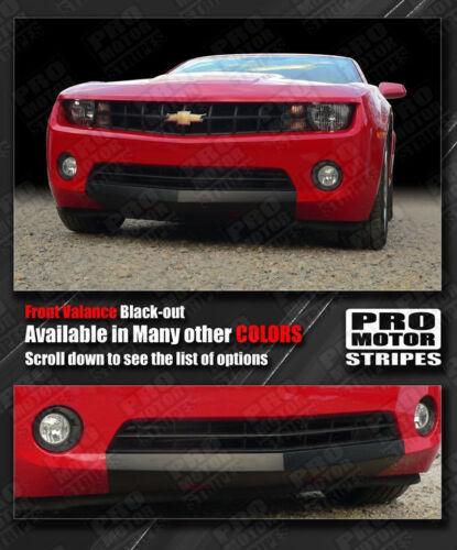 Chevrolet Camaro Front Valance Blackout Stripes Decals 2010 2011 2012 2013