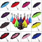 Creative Modern Upside Down Reverse Umbrella C-Handle Double Layer Inside-Out