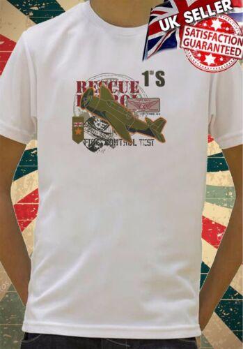 RAF Fighter Plane War Rescue Mission Boys Girls Birthday gift Top T shirt 394