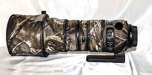 Sigma 150-600mm f/5-6.3 Sport Lens neoprene camo cover