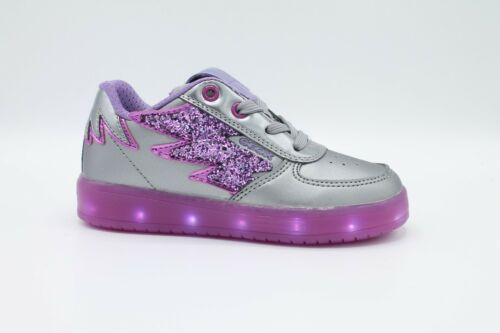 GEOX Junior Schuhe Mädchen LED Leuchten Farbig Aufladbar USB Kommodor J844HB