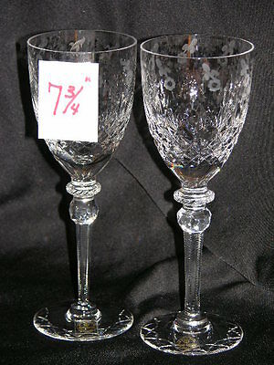 "Two Rogaska Gallia 7 3/4"" Crystal Wine Goblet Stem Glasses New With Tags"