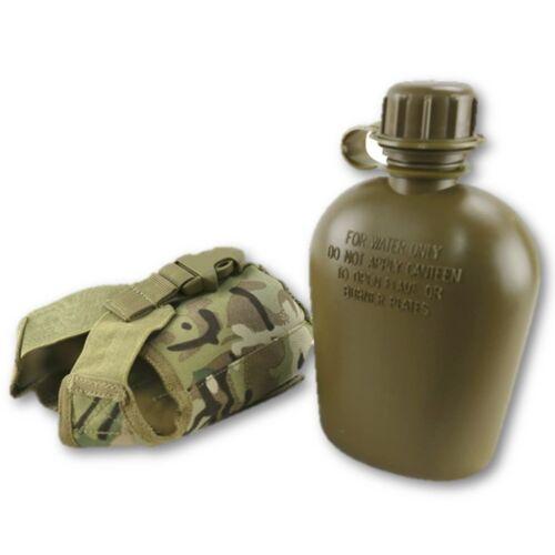 Tactique Bouteille d/'eau /& Sangle Pochette Enfants Camping eau Cantine Cadet Camo