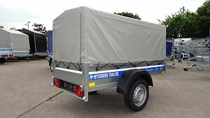 Car-Trailer-7ft-x-4ft-With-Cover-750kg-Single-Axle-Brand-New