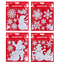 Fenetre-Stickers-Pere-Noel-amovible-Gel-Autocollant-mur-Home-Shop-DECOR-UK miniature 3